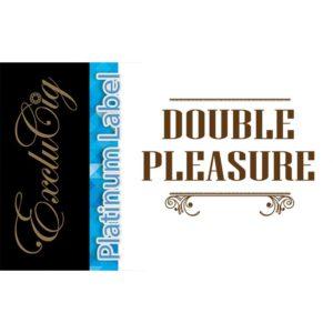 EXCLUCIG PLATINUM LABEL E-LIQUID DOUBLE PLEASURE 10ML (0MG)