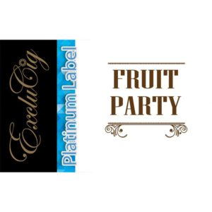 EXCLUCIG PLATINUM LABEL E-LIQUID FRUIT PARTY 10ML (0MG)