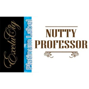 EXCLUCIG PLATINUM LABEL E-LIQUID NUTTY PROFESSOR 10ML (0MG)