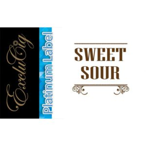 EXCLUCIG PLATINUM LABEL E-LIQUID SWEET SOUR 10ML (0MG)