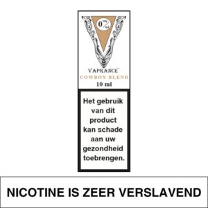 VAPRANCE WHITE LABEL COWBOYBLEND 10ML (0MG)