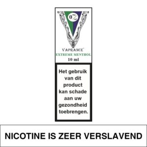 VAPRANCE WHITE LABEL EXTREME MENTHOL 10ML (0MG)